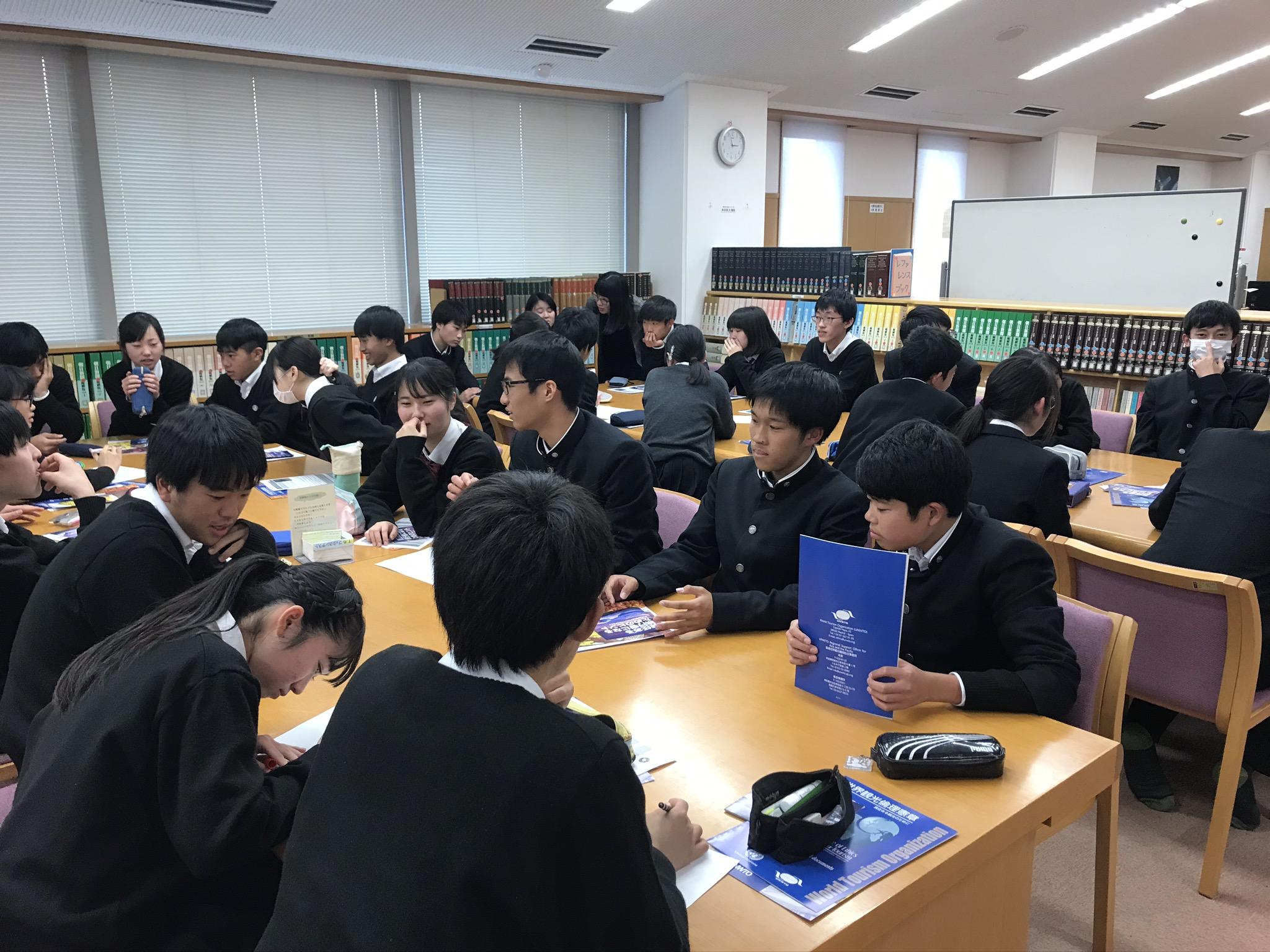奈良市立一条高校で特別授業を行いました。